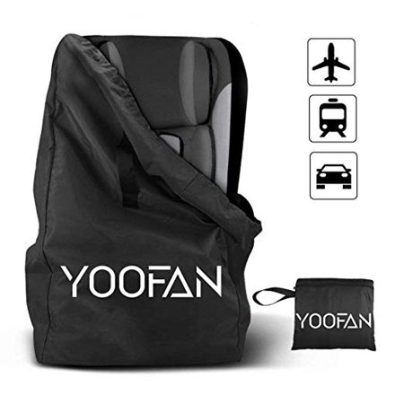 Car Seat Travel Bag Gate Check Drawstring Backpack With Shoulder Straps For Stroller Seats Boosters And Infant Carriers Waterproof Great