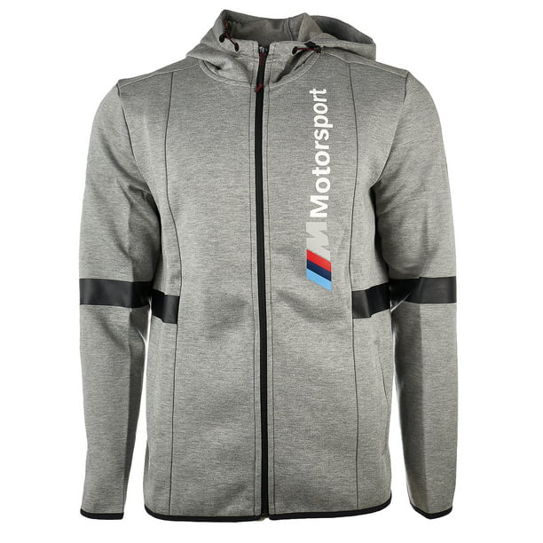 Puma BMW Motorsport Hooded Sweat Jacket - F Medium Gray Heather - Mens - XXL
