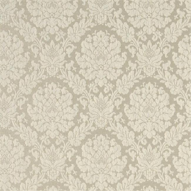 Designer Fabrics A454 54 inch Wide Cream Two Toned Floral Brocade Upholstery Fabric