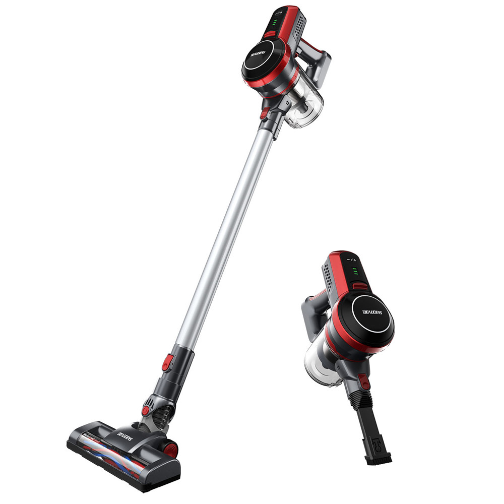 BEAUDENS Cordless Stick Vacuum Cleaner,9 Kpa High Power, Long Runtime, Rechargeable and Lightweight, Wall Mounted, 3 Stages Filtration for Carpet Hard Wood Floor Car Pet Hair