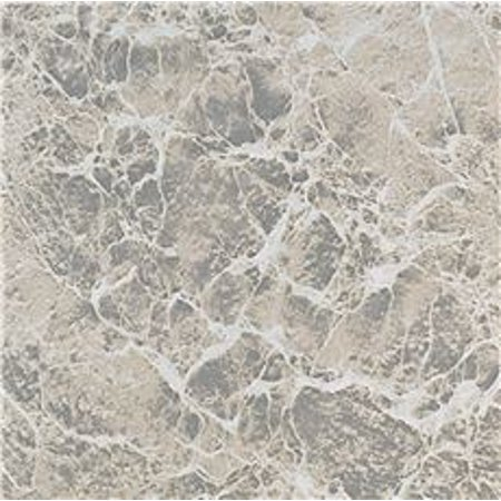 Winton Self-Adhesive Vinyl Floor Tile, Gray Marble Swirl, 12X12 In., 1.1 Mm
