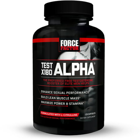 Force Factor Test X180 Alpha Testosterone Booster, 120