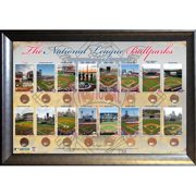 National League Ballparks Collage with Dirt From All 14 Ballparks