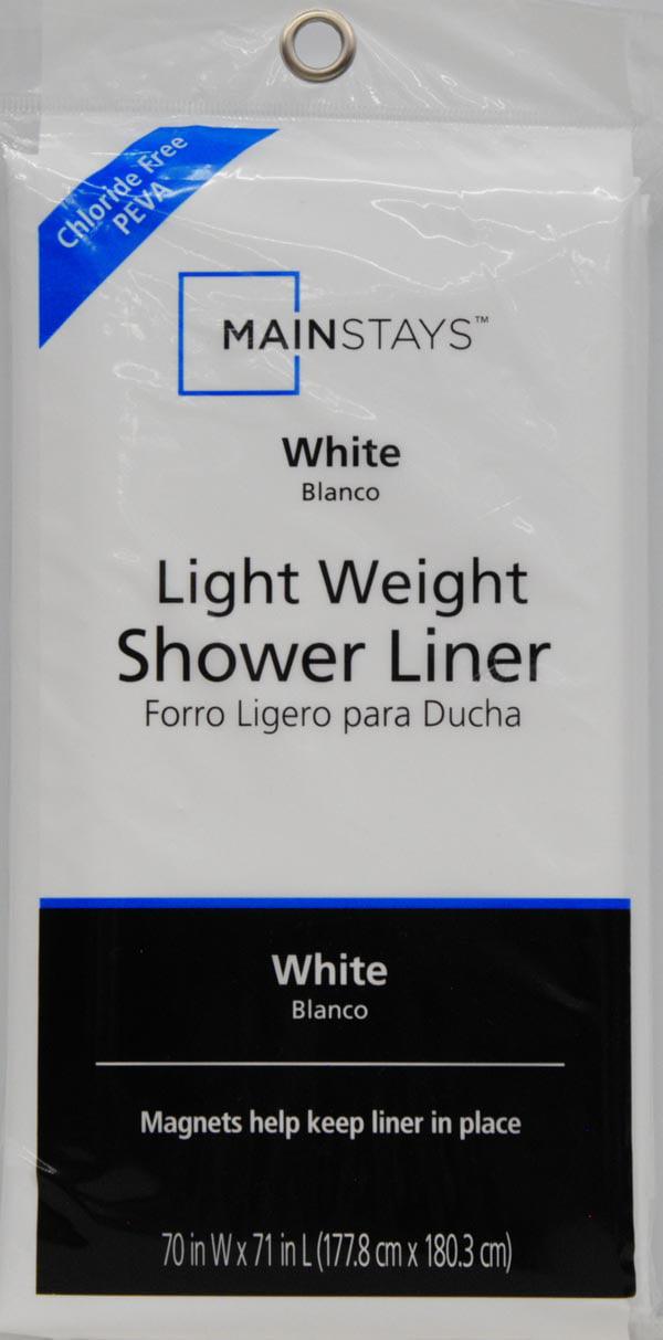Light Weight Shower Liner MainStays