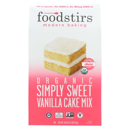 Foodstirs Simply Sweet Vanilla Cake Dry Baking Mix, 20 oz Box