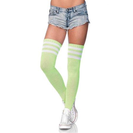 Leg Avenue Women's Three Striped Athletic Ribbed Thigh - Leg Avenue 3 Piece Belt