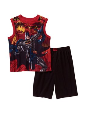 Batman Big Boys' Shorts Pajamas Set (10-12)
