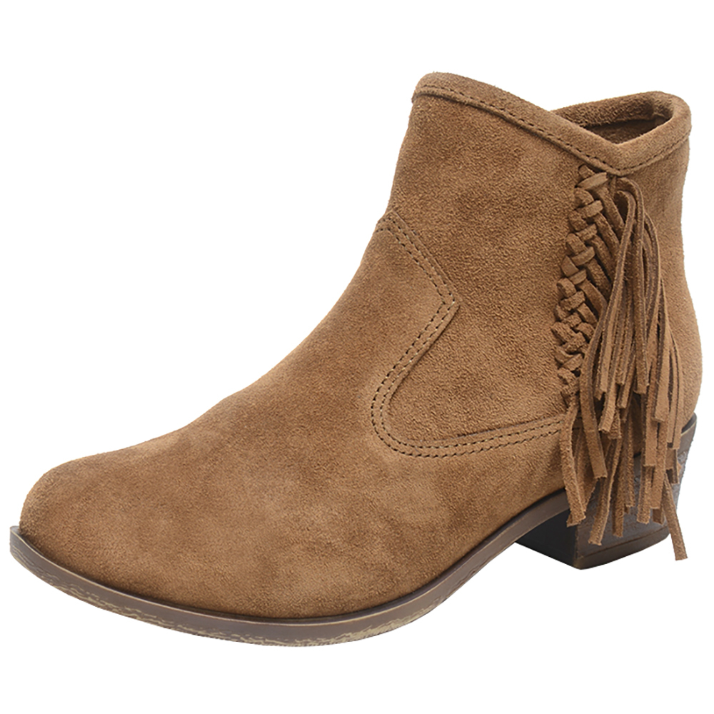 Minnetonka Womens Blake Dusty Brown Fringe Boots by MINNETONKA