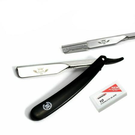 Navaja Shavette Straight Barber Shaving Razor Rasoir & 10 Dorco
