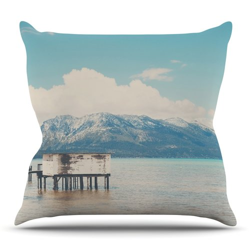 East Urban Home Down By The Lake by Laura Evans Throw Pillow