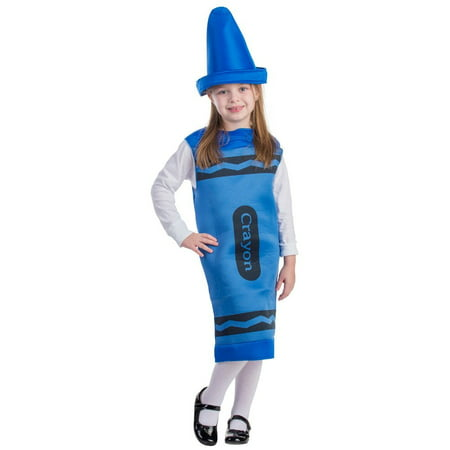 Dress Up America Blue Crayon Costume](Kids Crayon Costume)