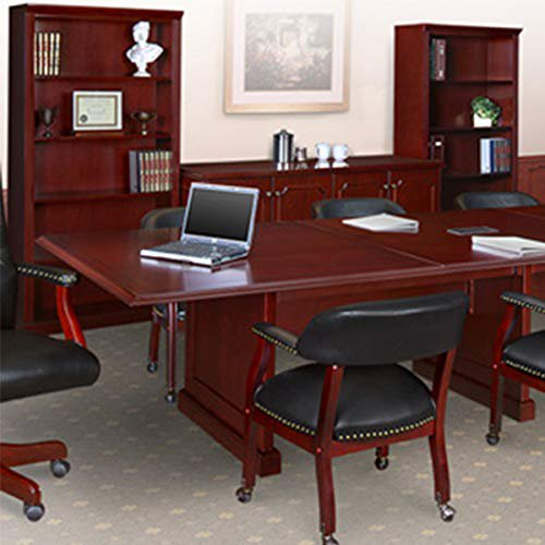 8ft - 24ft Traditional Conference Room Table, Boardroom Table (8ft w/ 1 Power Module, Mahogany)