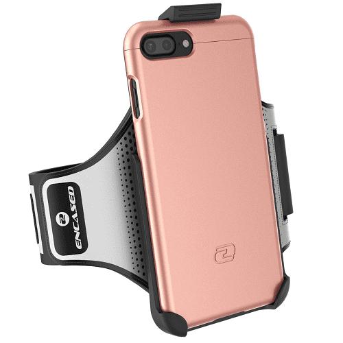 iPhone 7 Plus Armband Gym Kit, (Click-N-Go) Workout Armband + Sport Case (2 pc set) By Encased