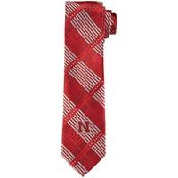 Nebraska Cornhuskers Skinny Plaid Tie - Scarlet - No Size