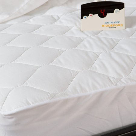 Biddeford Electric Mattress Pad, Cotton Blend. 4 Oz Quilted