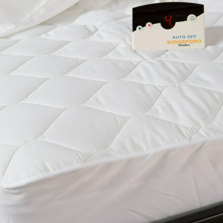 Heated Mattress Pad - Biddeford Electric Mattress Pad, Cotton Blend. 4 Oz Quilted