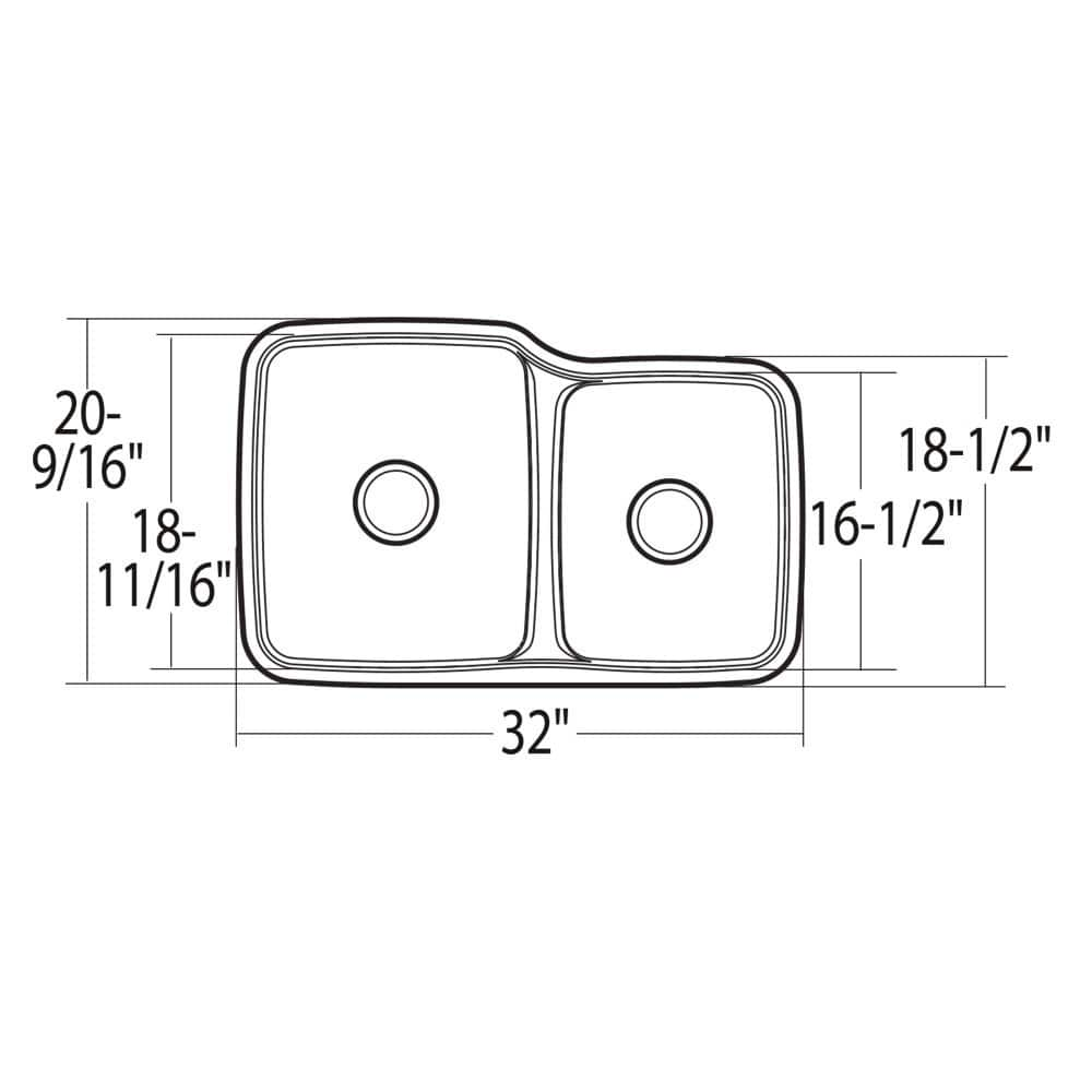 Moen G18253 Stainless Double Bowl Undermount Sink
