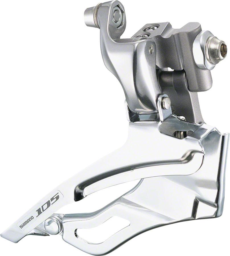 Shimano 105 5703 10-Speed Braze-On Triple Front Derailleur, Silver