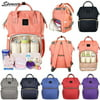 Multifunction Mummy Bag Baby Nappy Diaper Bag Fashion Waterproof Maternity Backpack Large Capacity Black