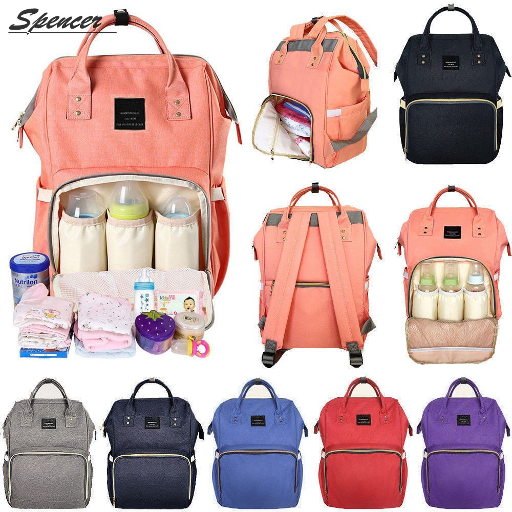 Large Capacity Mummy Baby Maternity Nappy Diaper Bag Waterproof Travel Backpack