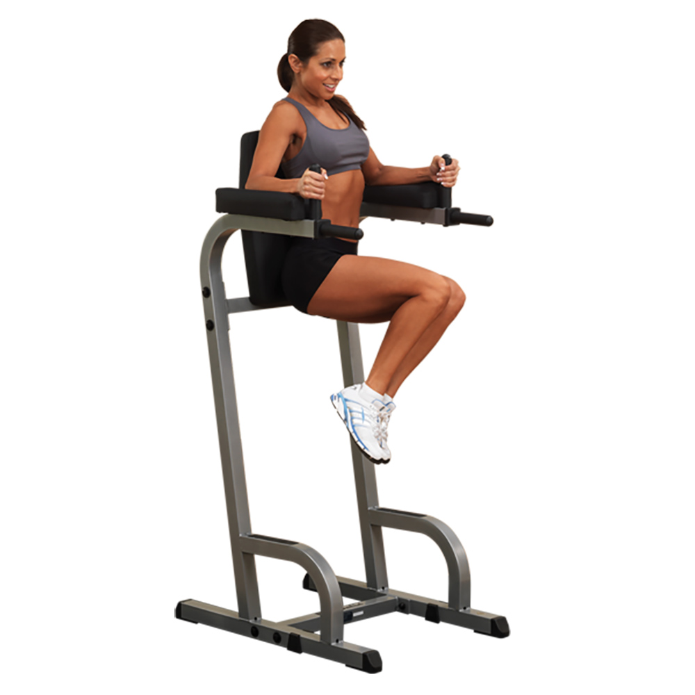 Body Solid GVKR60 Vertical Knee Raise & Dip Exercise Workout Station