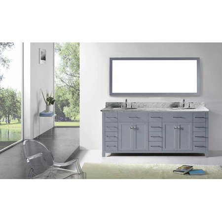 Virtu Md 2178 Wmro Gr Caroline Parkway 78 Inch Double Bathroom Vanity Set In Grey