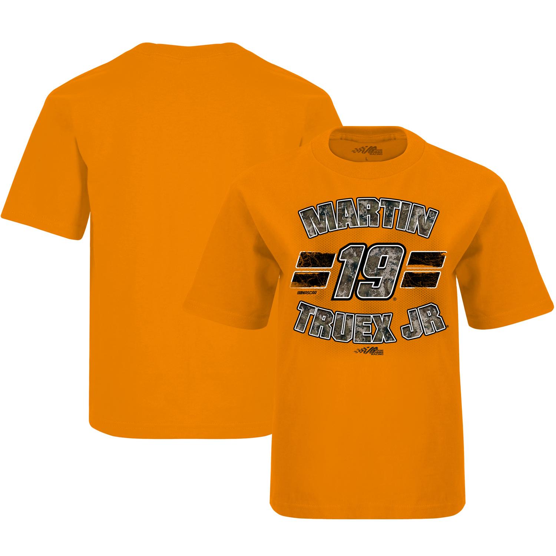 Martin Truex Jr Joe Gibbs Racing Team Collection Youth T-Shirt - Orange