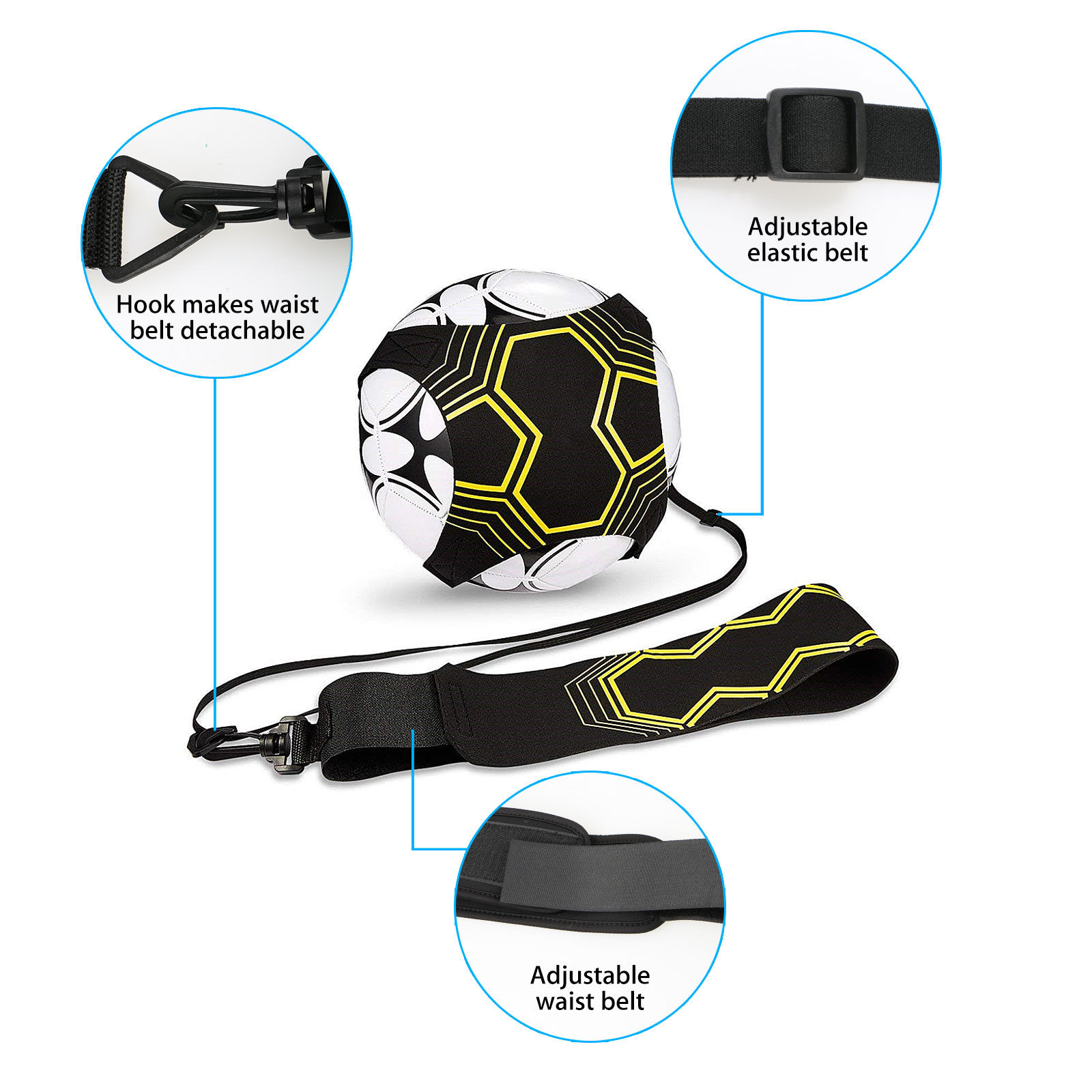 Soccer Trainer Soccer Football Kick Throw Trainer Solo Practice Training Aid Control Skills Adjustable Waist Belt For Kids Adults Fits Ball Size 3 4 And 5 Walmart Com Walmart Com