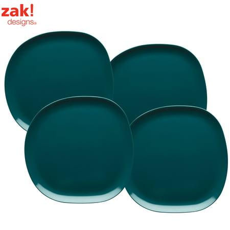 Green Dinner Plates (Zak Designs Moso Dinner Plates Green , 4-piece)