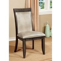 Furniture of America Bonet Dining Chair in Gray (Set of 2)