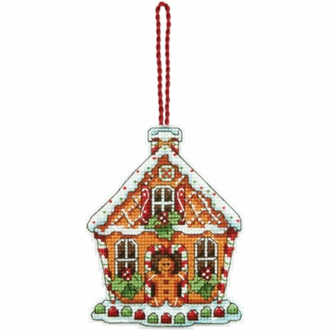 Susan Winget Gingerbread House Counted Cross Stitch Kit-3.25 in. x 4.25 in. 14 Count Plastic Canvas