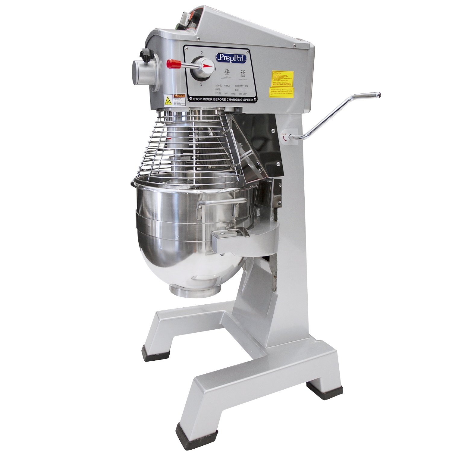 Bon Commercial Stainless Steel Food Mixer, 30 Quart PREPPAL PPM 30 Large Floor  Heavy Duty Mixer Stand Mixer With Bowl Lift   Walmart.com