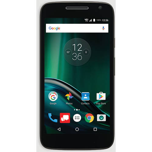 Verizon Moto G Play Bundle Prepaid Smartphone, 2 BONUS Shells