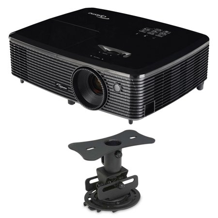 Optoma Hd142x Full Hd 1080P 3D Dlp Home Theater Projector W  Mustang Low Profile Mount Bundle