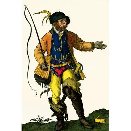A 16th century German drover in traditional costume After Hans Weigels book of costume 1577 From Illustrierte Sittengeschichte vom Mittelalter bis zur Gegenwart by Eduard Fuchs published 1909 - 16th Century Costumes