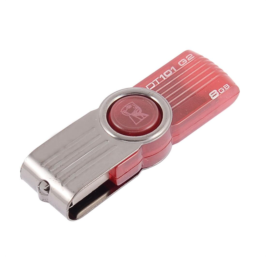 Rotating USB Flash Memory Pen Drive Storage Media U-Disk Red 8GB