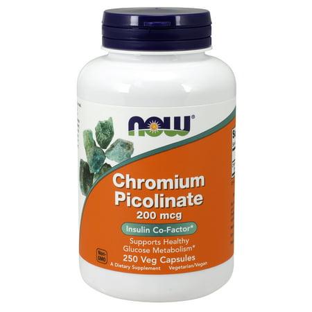 NOW Supplements, Chromium Picolinate 200 mcg, 250 Veg (Best Zinc Picolinate Supplement)