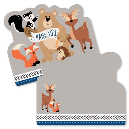 Stay Wild - Forest Animals - Shaped Thank You Cards - Woodland Baby Shower or Birthday Party Thank You Note Cards with (Wild Halloween Cards)