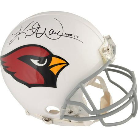 "Kurt Warner Arizona Cardinals Autographed Riddell Pro-Line Helmet with ""HOF 17"" Inscription - Fanatics Authentic Certified"