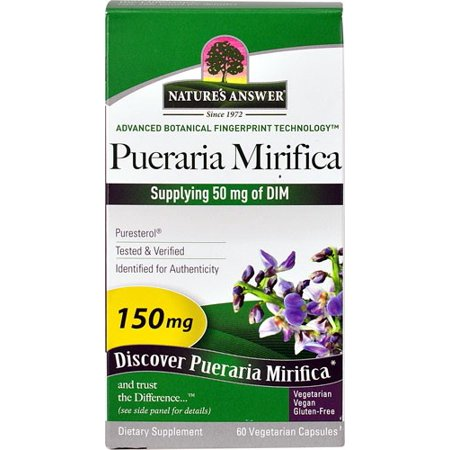 Nature's Answer Pueraria Mirifica 150 mg Capsules, 60 Ct