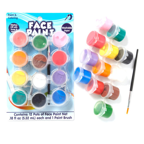 Kids Craft Face Paint, 12 Pots