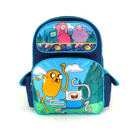 Full Size Blue Jumping Adventure Time Backpack - Adventure Time - Adventure Backpacks