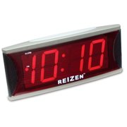 Reizen Jumbo Super Loud Alarm Clock with 2-Inch Red LED