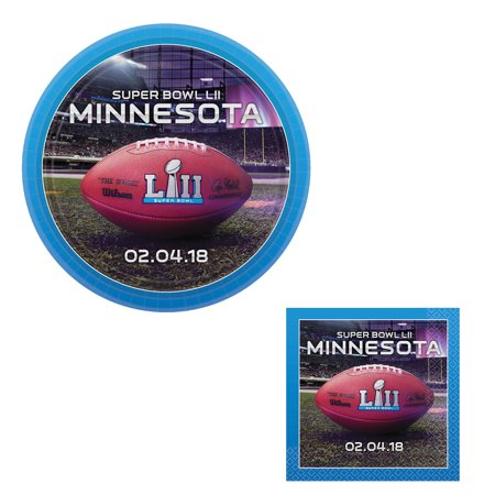 2018 Super Bowl Lii 52 Party Supply 24Pc Party Pack  8 Guests  Napkins   Plates