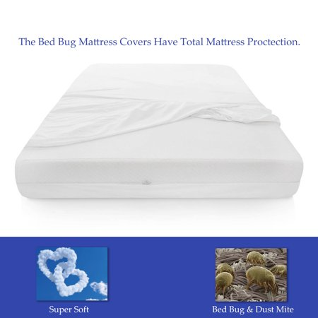 WAYTON, Mattress or Box Spring Protector Covers, Bed Bug Proof/Water Proof, Fits Sleep 6-9 Inch, Full Size 74