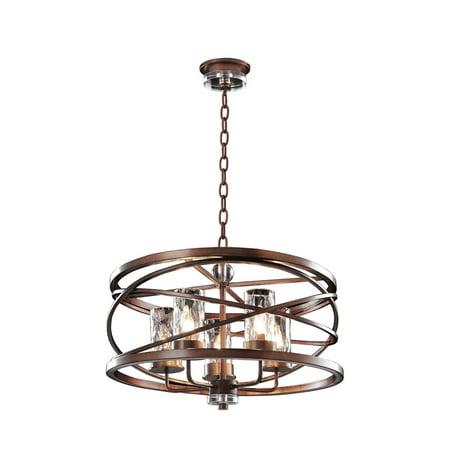 Pendants 5 Light Bulb Fixture With Etruscan Bronze Tone Finish Candelabra 56 inch Eb Etruscan Bronze Finish