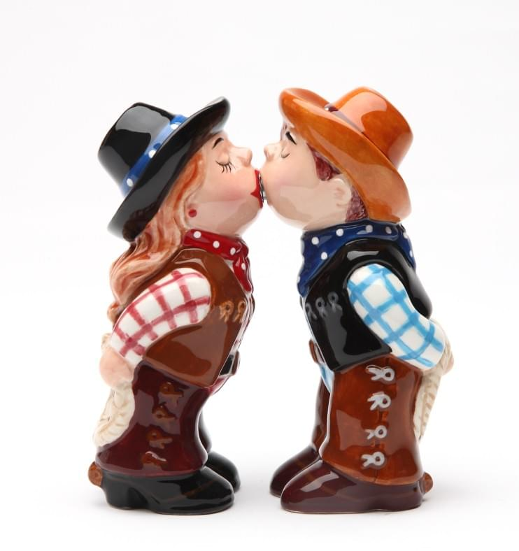 Cowboy & Cowgirl Magnet Salt & Pepper Shakers