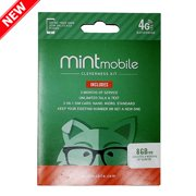 New Mint Mobile Wireless Plan | 8GB of 4G LTE Data + Unlimited Talk & Text for 3 Months (3-in-1 GSM SIM Card)