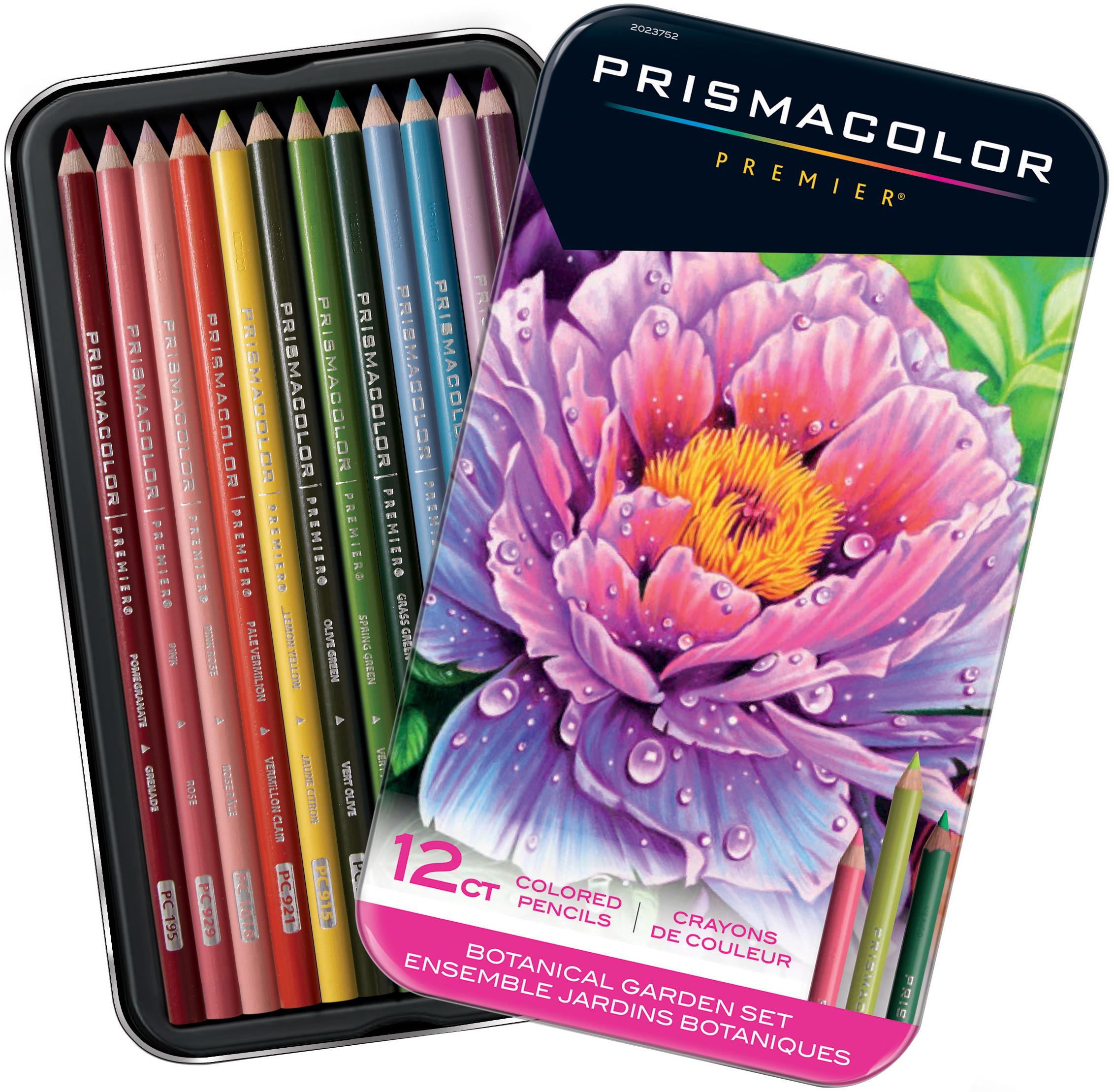 Prismacolor Premier Colored Pencils, Soft Core, Botanical Garden Set, 12 Count