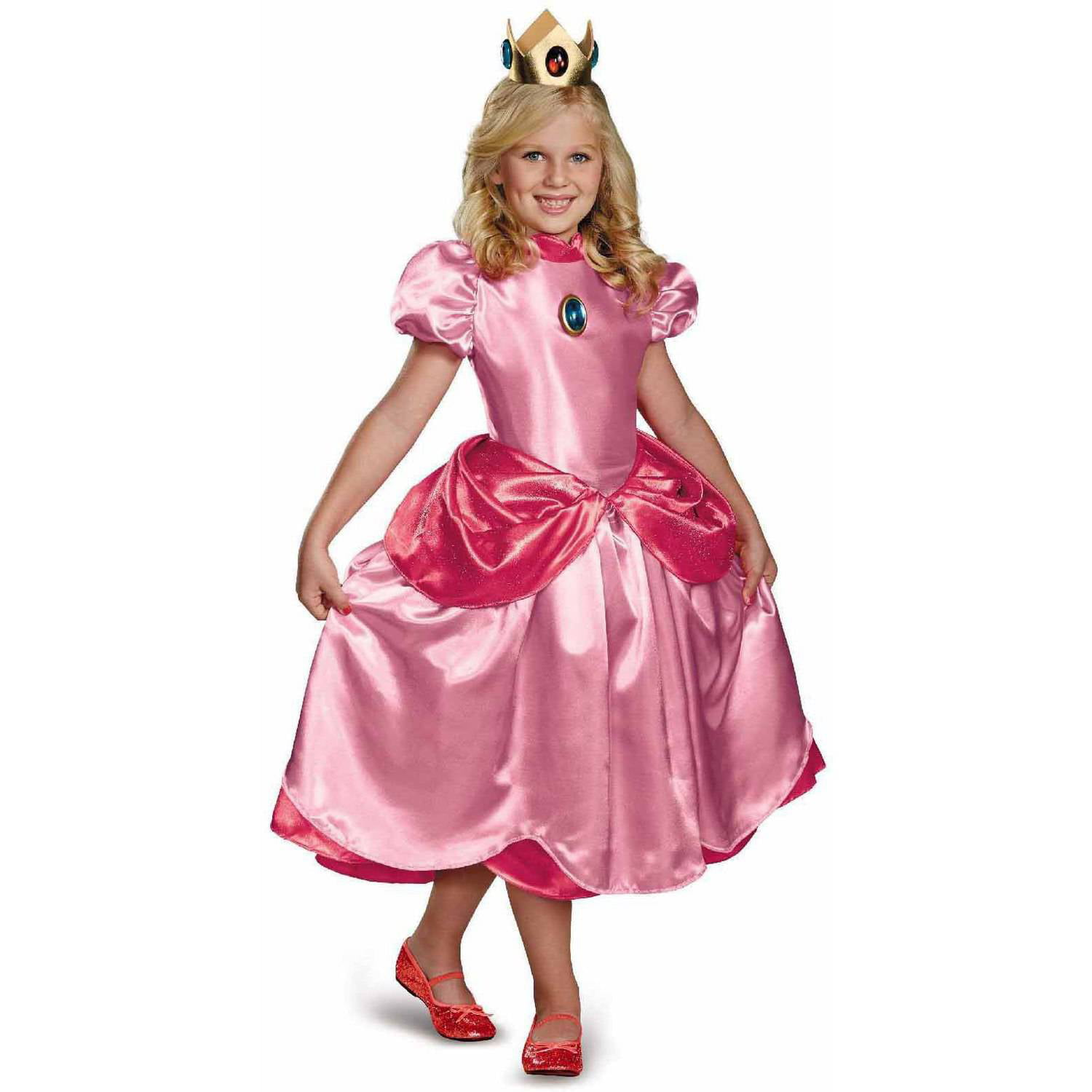 super mario brothers deluxe princess peach girlsu0027 child halloween costume